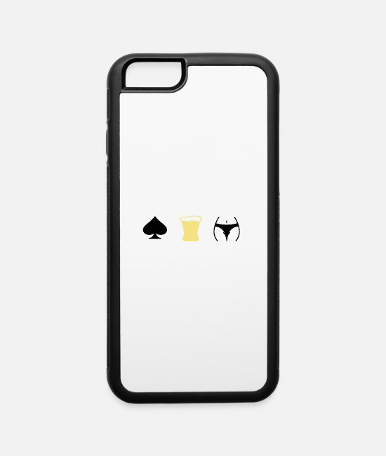 Play iPhone Cases - poker tv beer and girls - iPhone 6 Case white/black
