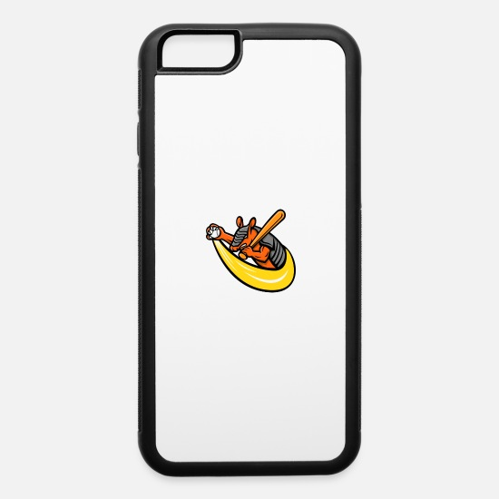 Mascot iPhone Cases - Armadillo Baseball Mascot - iPhone 6 Case white/black