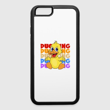 Retro Vintage Pop Art Duckling Duck Poultry Animal - iPhone 6/6s Rubber Case