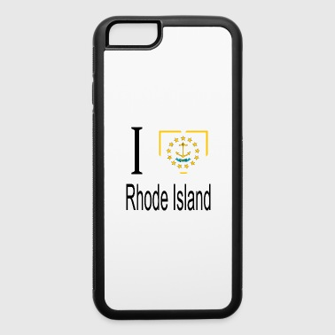 I Heart I Love Rhode Island Heart Country USA gift flag - iPhone 6/6s Rubber Case