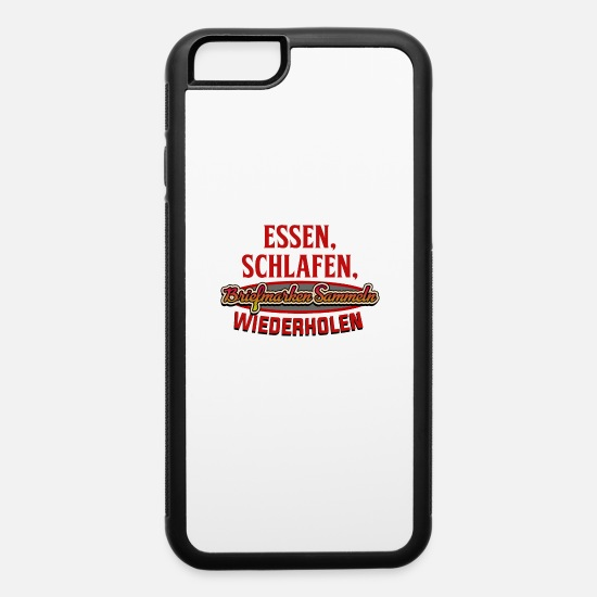 Gift Idea iPhone Cases - Stamp collecting - iPhone 6 Case white/black