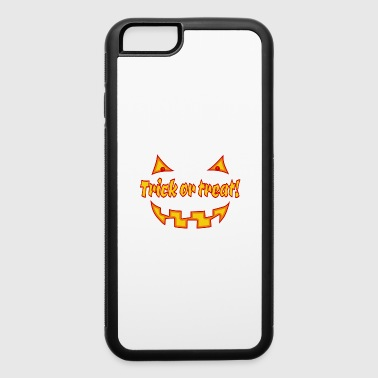 Undead Halloween trick or treat with pumpkinface - iPhone 6/6s Rubber Case