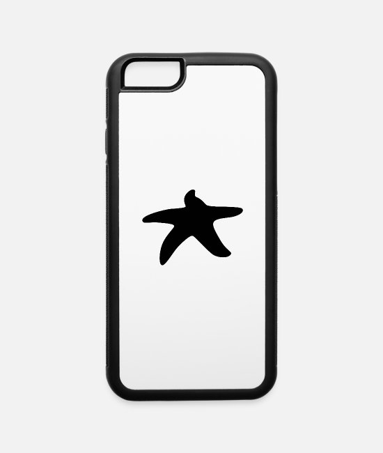 Black Metal iPhone Cases - Black starfish - iPhone 6 Case white/black