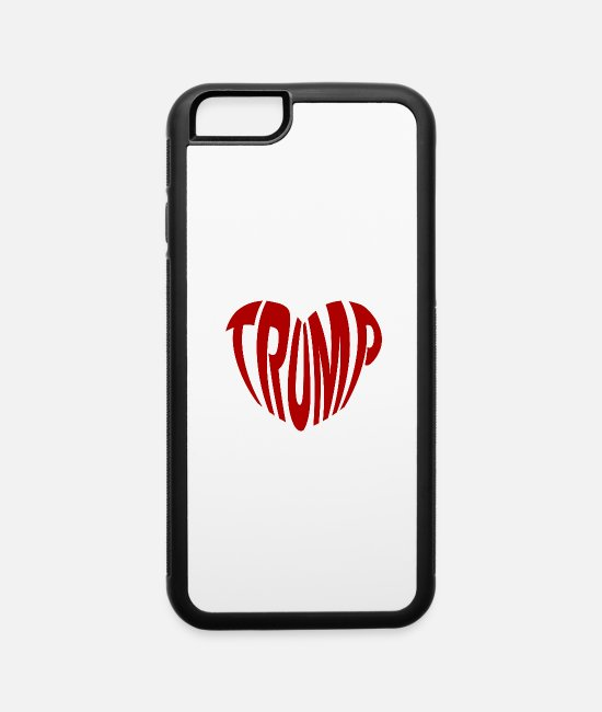 Heart iPhone Cases - Trump - iPhone 6 Case white/black