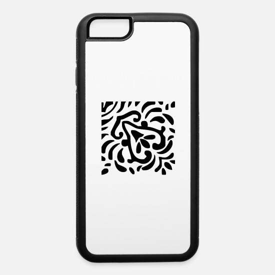 Illustration iPhone Cases - A stylish cool pattern Design - iPhone 6 Case white/black