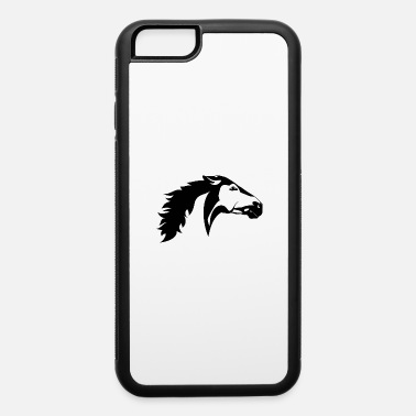 Down Black and white animals vector tattoo animals head - iPhone 6/6s Rubber Case