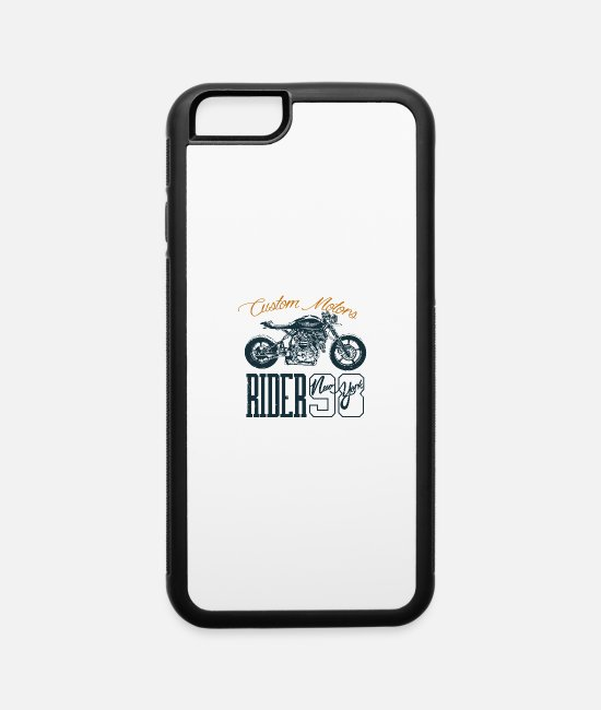 Horsepower iPhone Cases - Motorcycle Chopper Motor Sport Biker Girl Bike - iPhone 6 Case white/black
