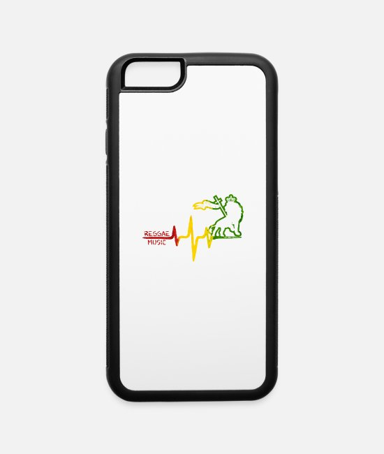 Rasta iPhone Cases - REGGAE MUSIC - iPhone 6 Case white/black