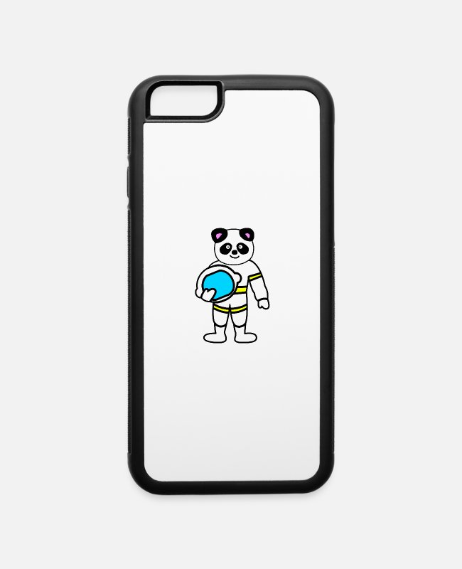 Space iPhone Cases - Panda astronaut space gift - iPhone 6 Case white/black