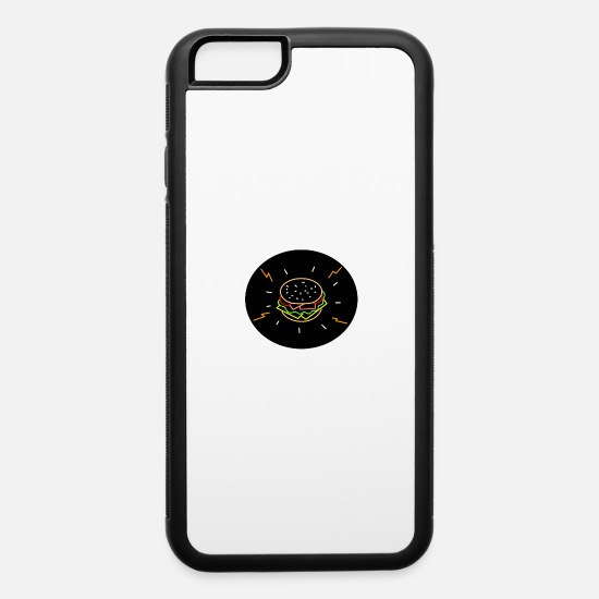 Style iPhone Cases - Cheeseburger Retro Neon Sign Oval - iPhone 6 Case white/black