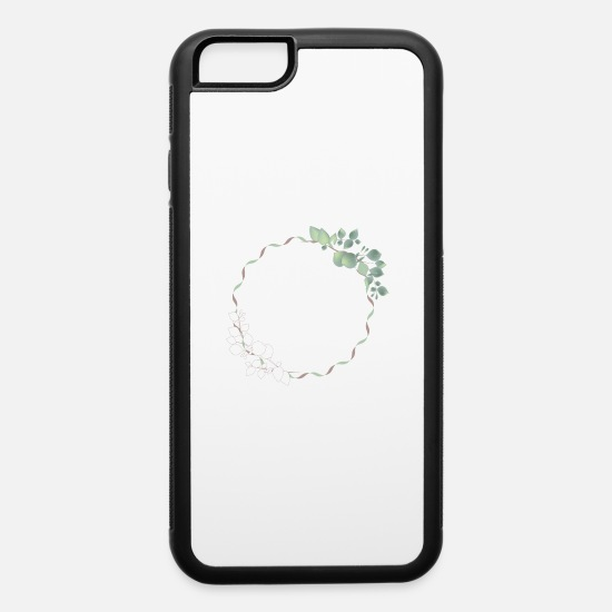 Lovely iPhone Cases - delicate eucalyptus frame for your own texts - iPhone 6 Case white/black