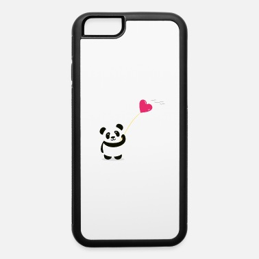 panda heart street art minimal baer cute love - iPhone 6 Case