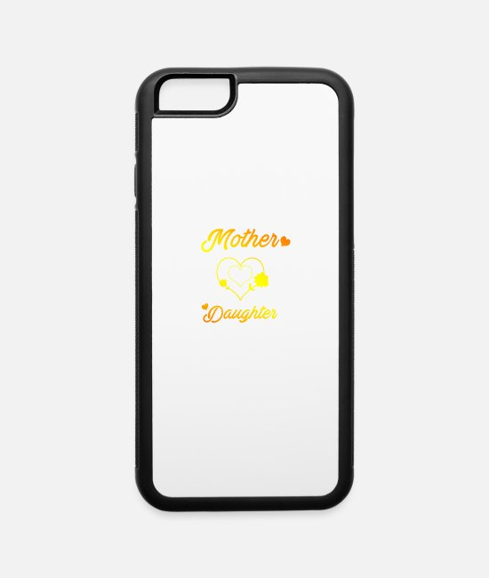 Daughters iPhone Cases - Mother and daughter mothers day love daughters mom - iPhone 6 Case white/black