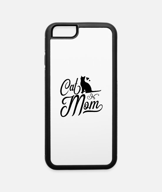 Quote iPhone Cases - Cats Mom Love Cat - iPhone 6 Case white/black