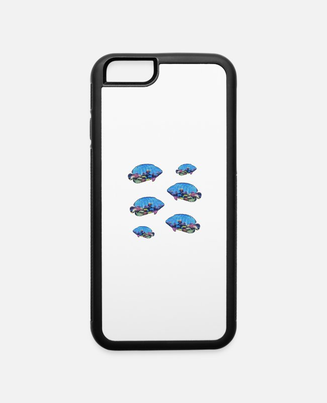 Great iPhone Cases - Tropical Fish With Coral Reef - iPhone 6 Case white/black