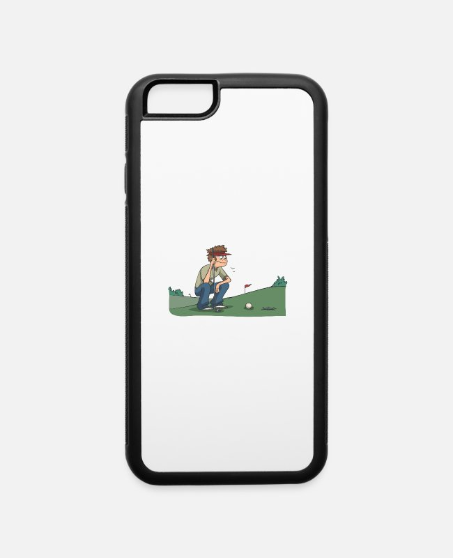 Handicap iPhone Cases - Golf at the hole - iPhone 6 Case white/black
