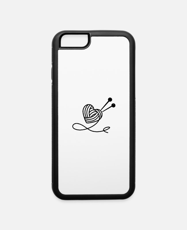 Read iPhone Cases - heart needle - iPhone 6 Case white/black