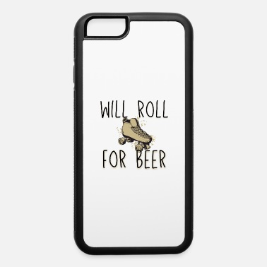 Retro 70s skate roller funny retro gift for derby beer lover - iPhone 6 Case