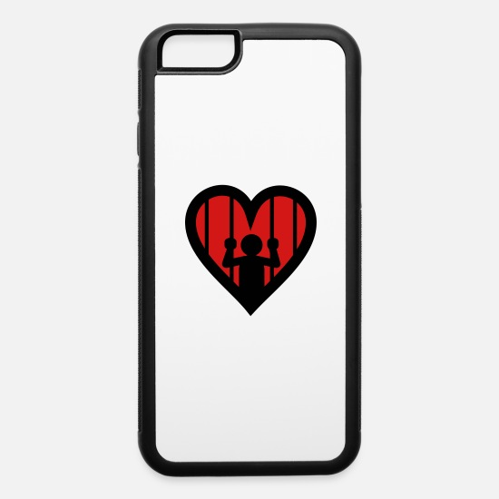 Love iPhone Cases - Love is a Jail - iPhone 6 Case white/black