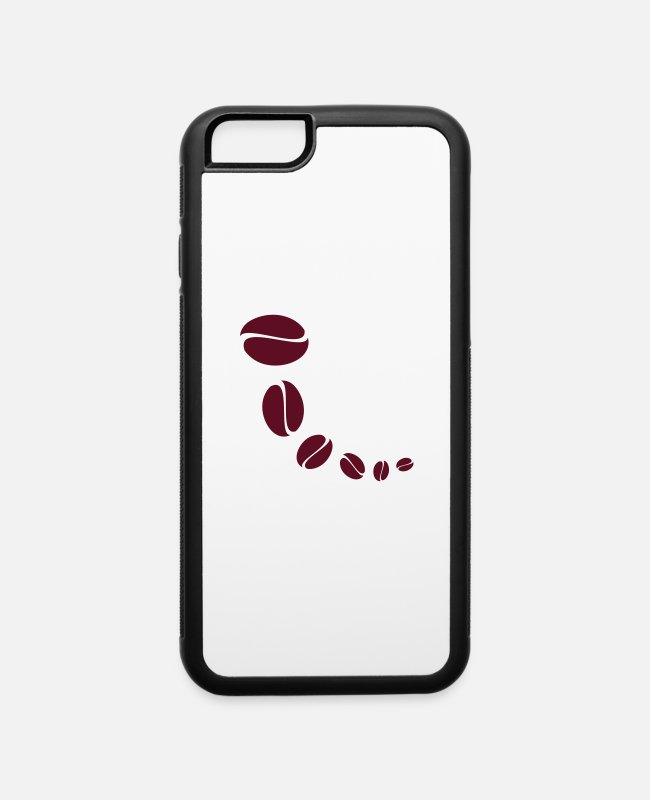 Pattern iPhone Cases - Coffee Beans - iPhone 6 Case white/black