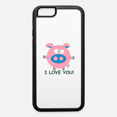 Wins Pig I love you Lover Cupid couple Valentine Kiss - iPhone 6 Case