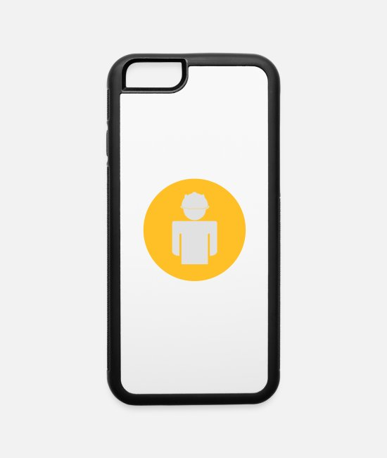 High iPhone Cases - Construction Worker - iPhone 6 Case white/black