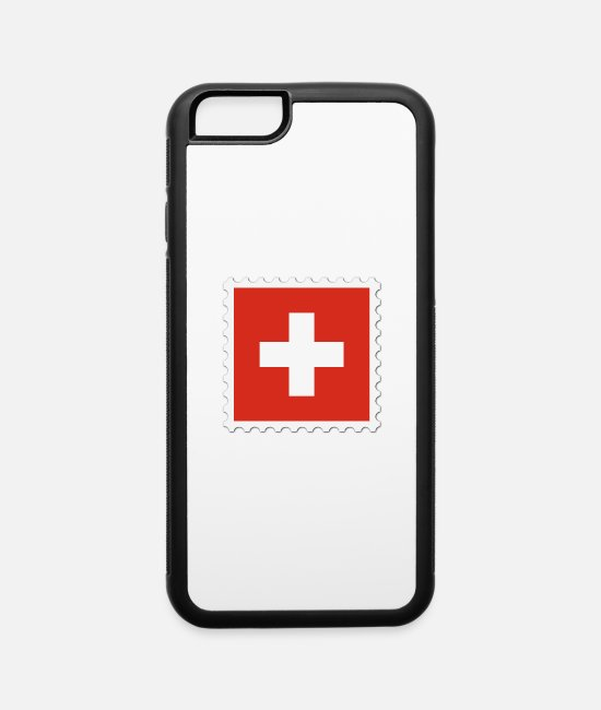 Give iPhone Cases - Switzerland flag stamp - iPhone 6 Case white/black