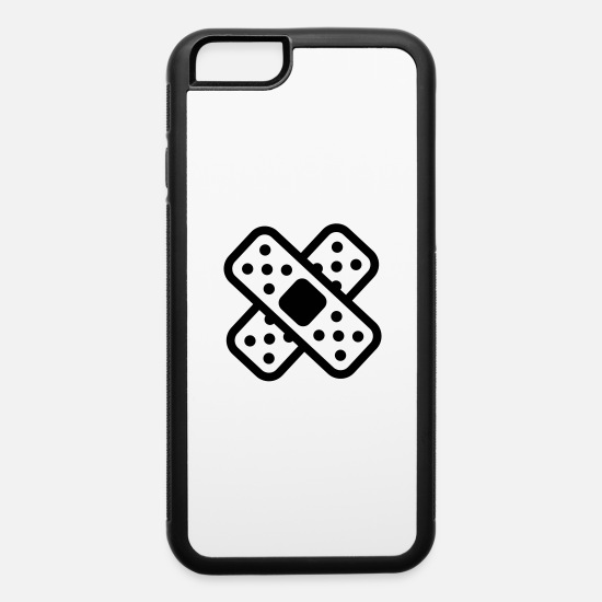 First Aid iPhone Cases - band-aid splatter - iPhone 6 Case white/black