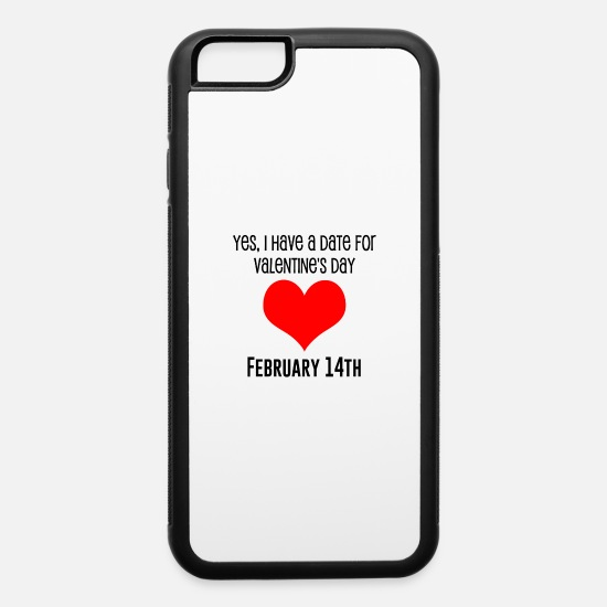 Love iPhone Cases - Valentines Date - iPhone 6 Case white/black
