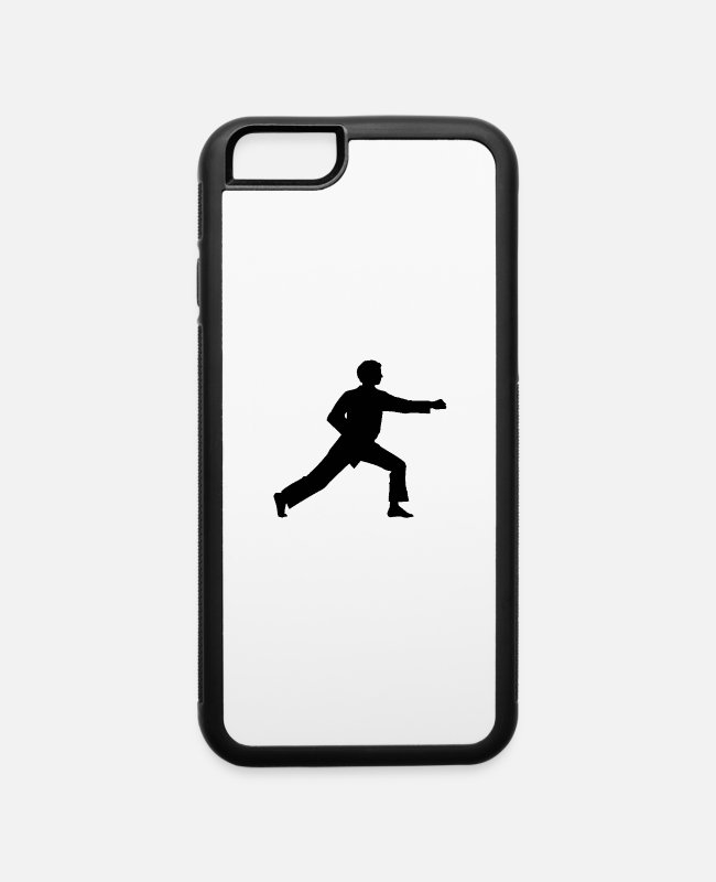 Martial Arts iPhone Cases - Karate Punch - iPhone 6 Case white/black