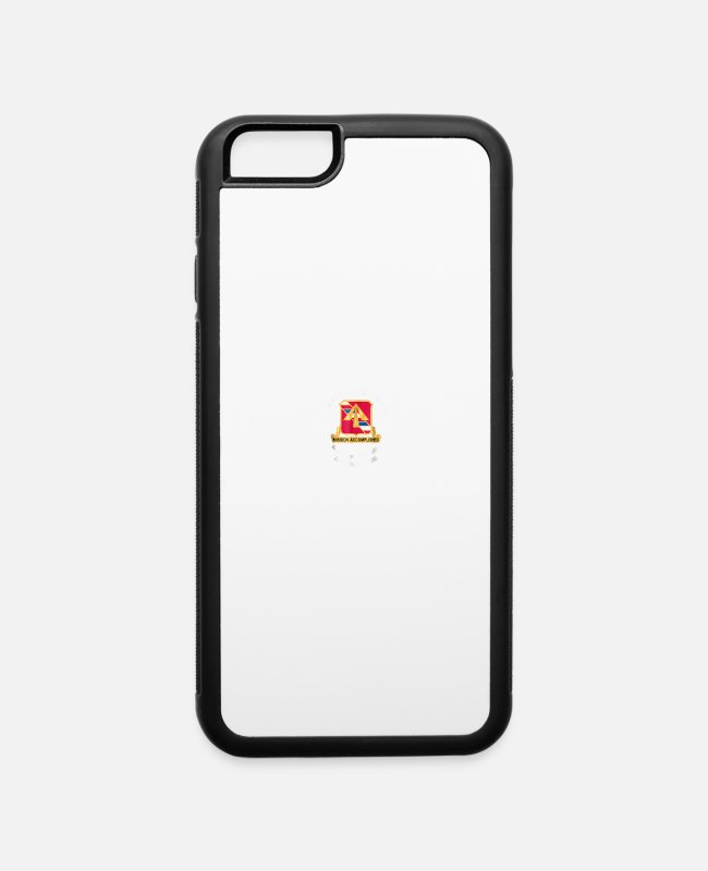 iPhone Cases - 1st Bn 41st FA Inneringen CAS Site Inneringen FRG T-shirt - iPhone 6 Case white/black