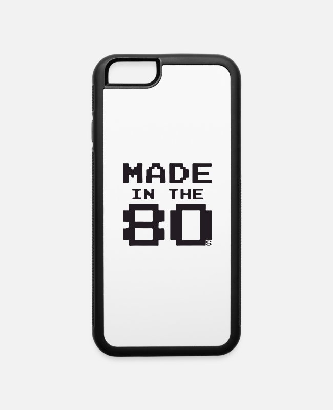 Neon iPhone Cases - Made in the 80s - iPhone 6 Case white/black