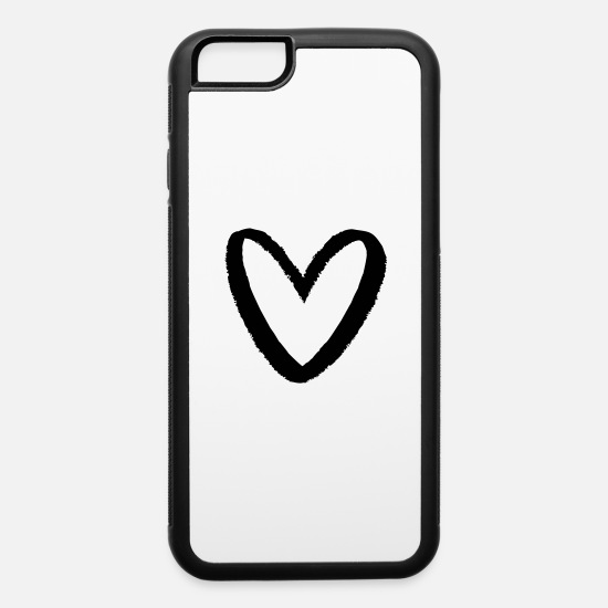 Love iPhone Cases - Heart in chalk look I love symbol sign - iPhone 6 Case white/black