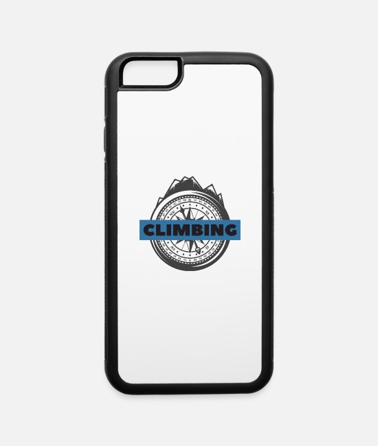 Rocky Mountains iPhone Cases - climbing - iPhone 6 Case white/black