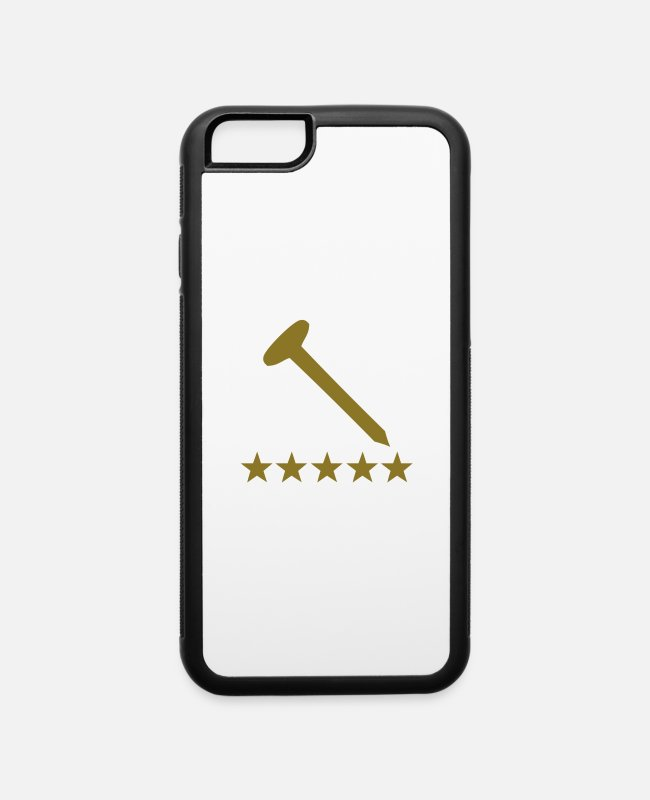 Hammer iPhone Cases - nail - iPhone 6 Case white/black