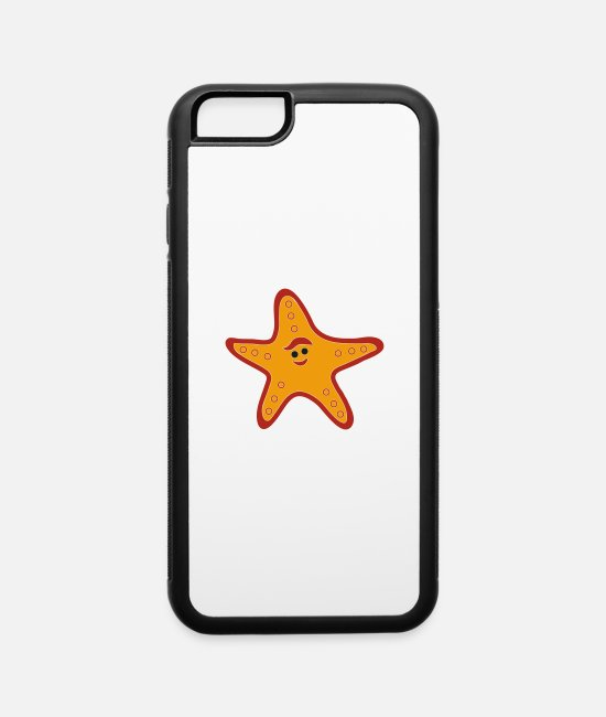 Drawing iPhone Cases - starfish - iPhone 6 Case white/black