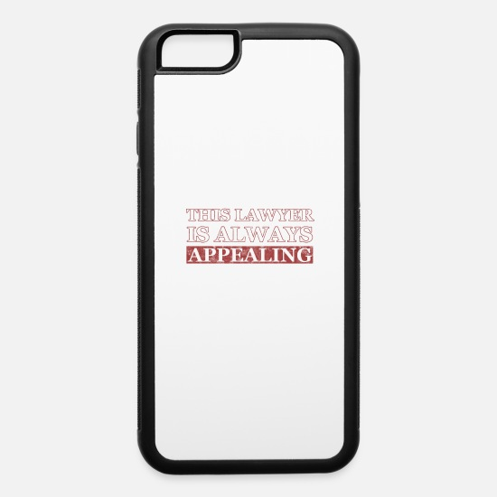 Paragraph iPhone Cases - Funny lawyer attorney law school graduation gifts - iPhone 6 Case white/black