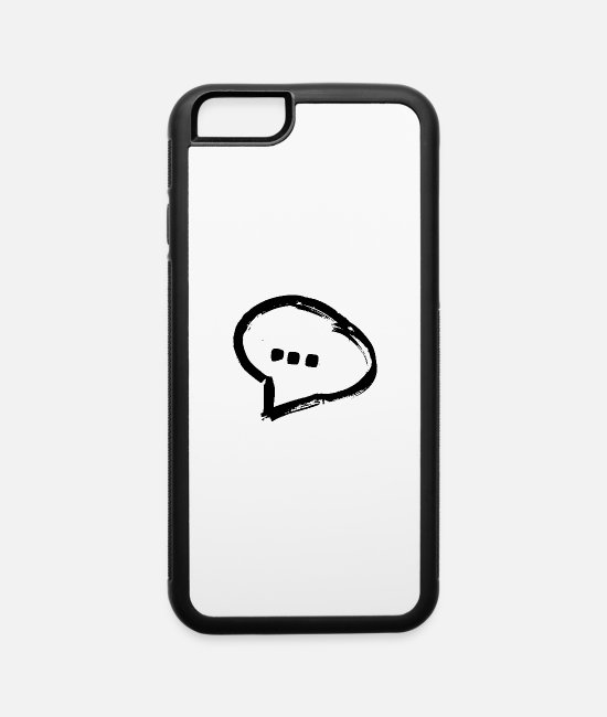 Talkative iPhone Cases - (...) black talking conversation chat balloon - iPhone 6 Case white/black