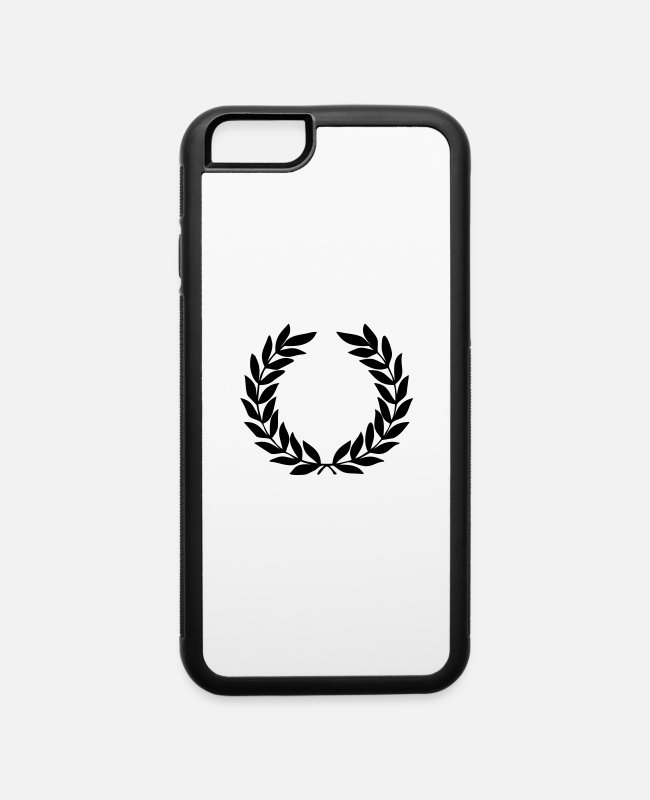 Wreath iPhone Cases - Laurel Wreath - iPhone 6 Case white/black
