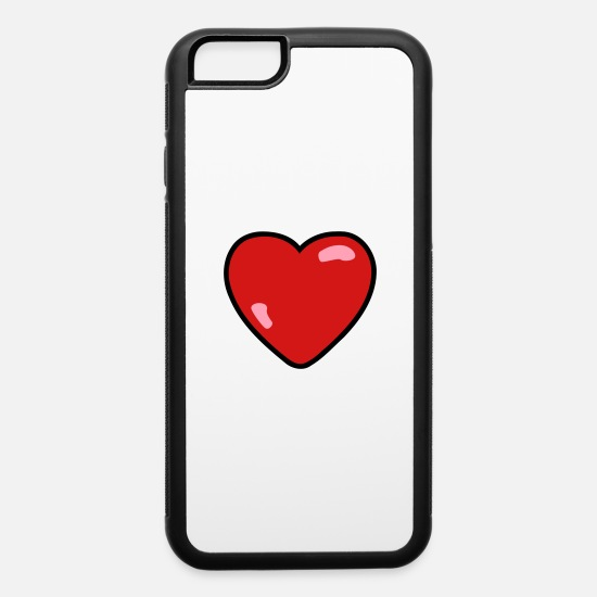 Love iPhone Cases - Heart love - iPhone 6 Case white/black