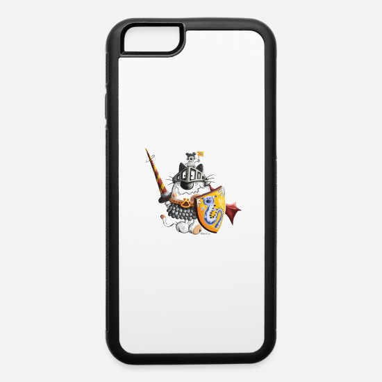 Kids iPhone Cases - Cat Knight - Cats - Knights - Cartoon - Gift - Fun - iPhone 6 Case white/black