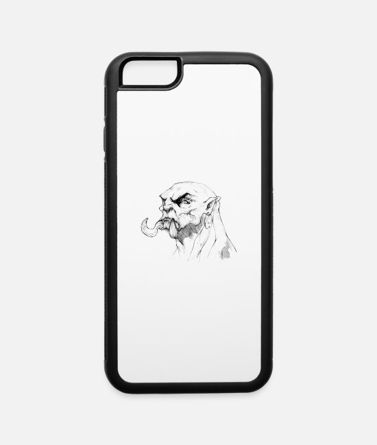 Barbarian iPhone Cases - Barbarian - iPhone 6 Case white/black
