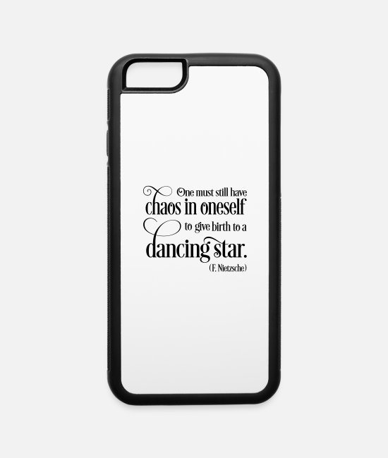Chaos iPhone Cases - dancing star - iPhone 6 Case white/black