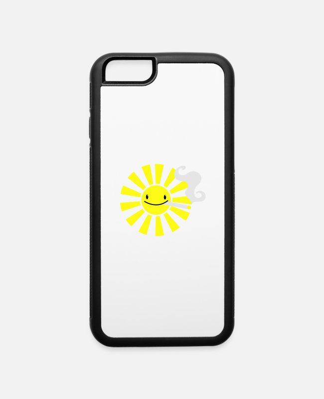 Drugs iPhone Cases - the sun smoking - iPhone 6 Case white/black