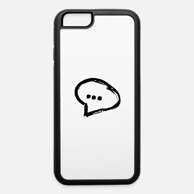 Jaws (...) black talking conversation happy balloon - iPhone 6 Case