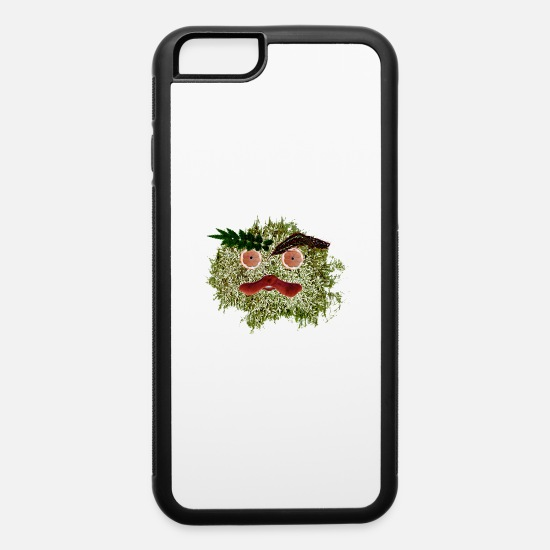 Monster iPhone Cases - Cute Leaf monster - iPhone 6 Case white/black