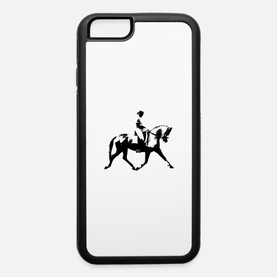 Saddle iPhone Cases - EQUESTRIAN DRESSAGE - iPhone 6 Case white/black