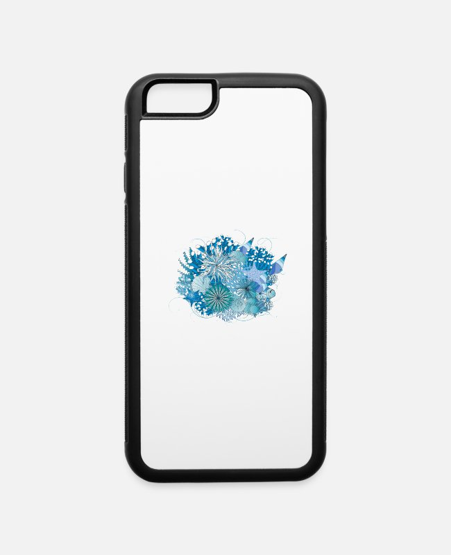 Great iPhone Cases - Coral reef with shells, sea anemones and corals - iPhone 6 Case white/black