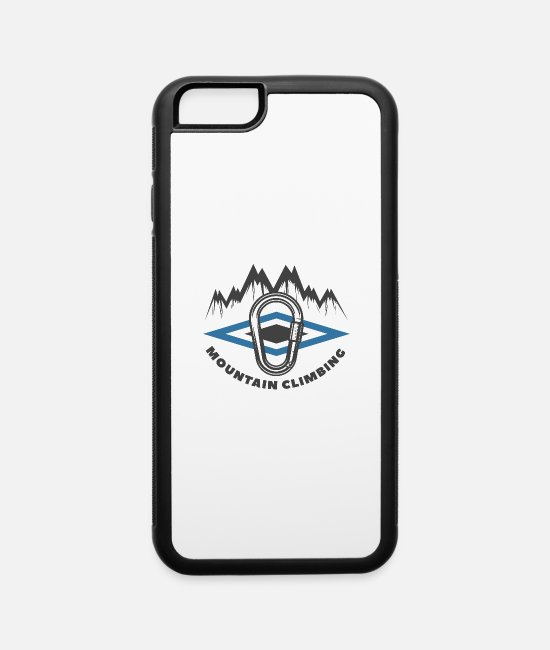 Rocky Mountains iPhone Cases - mountain climbing 2 - iPhone 6 Case white/black