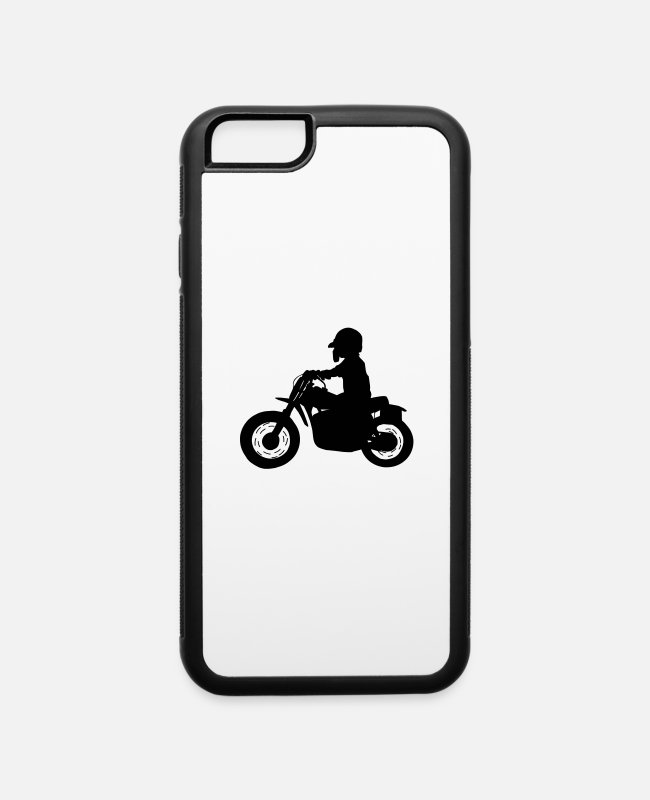Motorcycle iPhone Cases - Motor crosser - iPhone 6 Case white/black